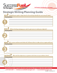 Strategic Writing Planning Guide
